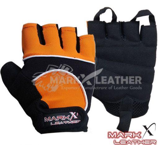 Orange Cycle Gloves MX-917